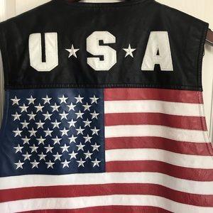 Jackets & Coats - vintage Leather Marco Bassi men's motorcycle vest